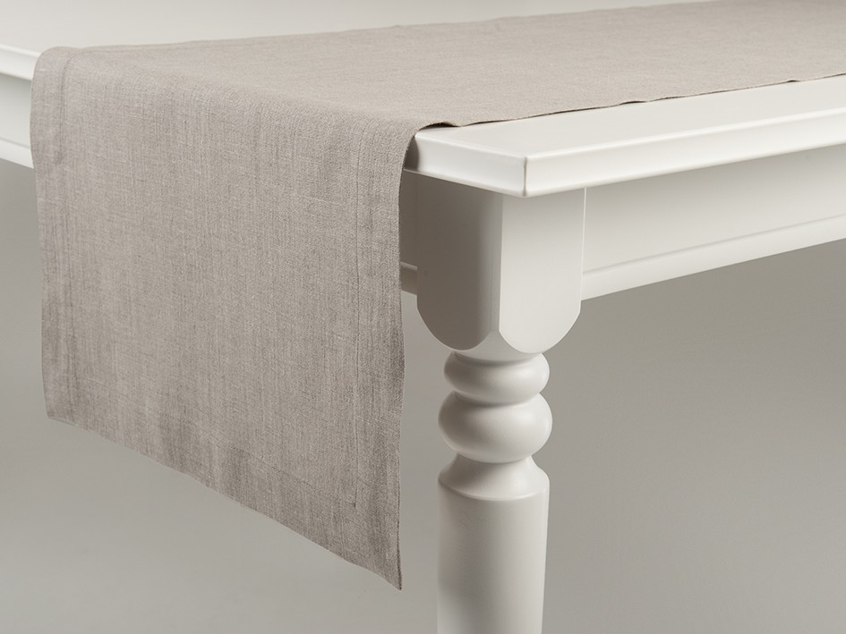 Linen table runner Flax grey 40x240cm