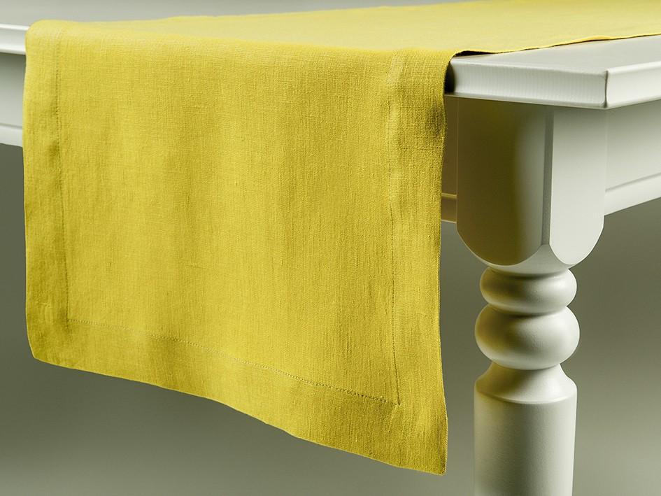 Linen table runner Mustard 40x180cm