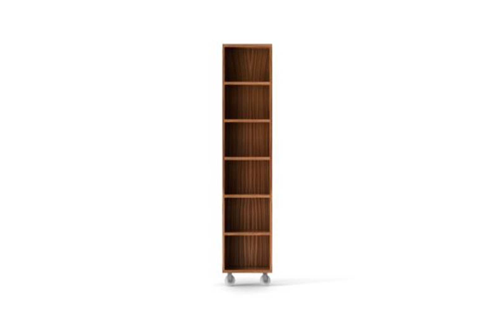 LIT221 Literatura Classic Storage Element on Wheels Super-matt Walnut