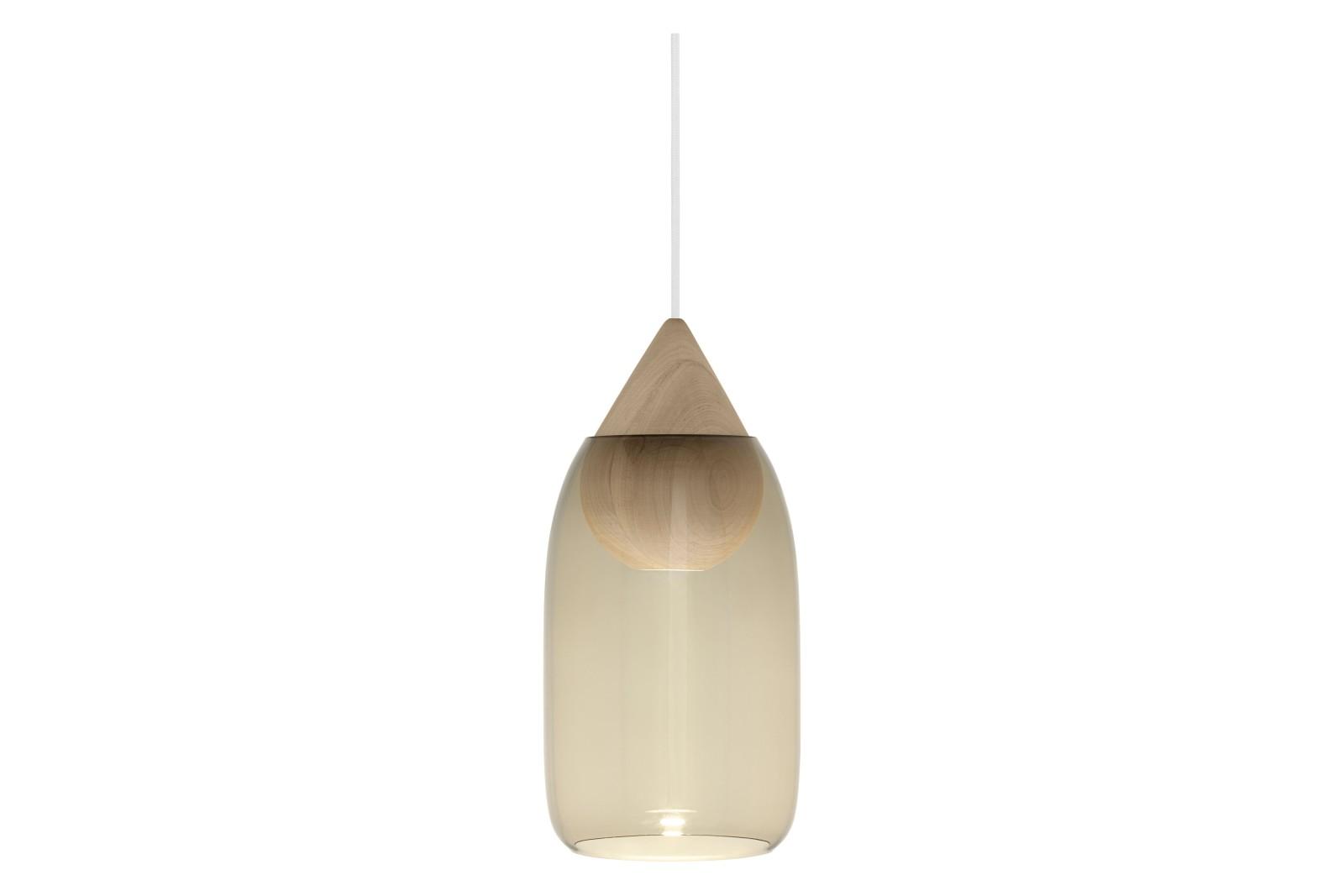 Liuku Glass Shade Pendant Light Smoked Glass