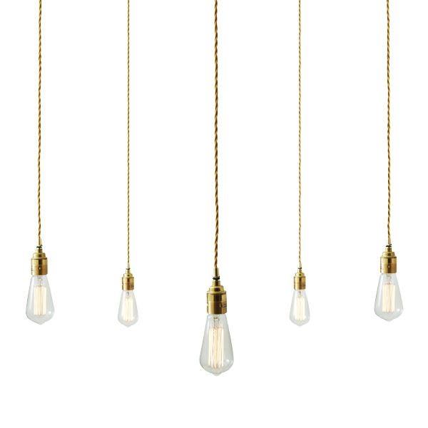 Lome Cluster Pendant Light Polished Brass