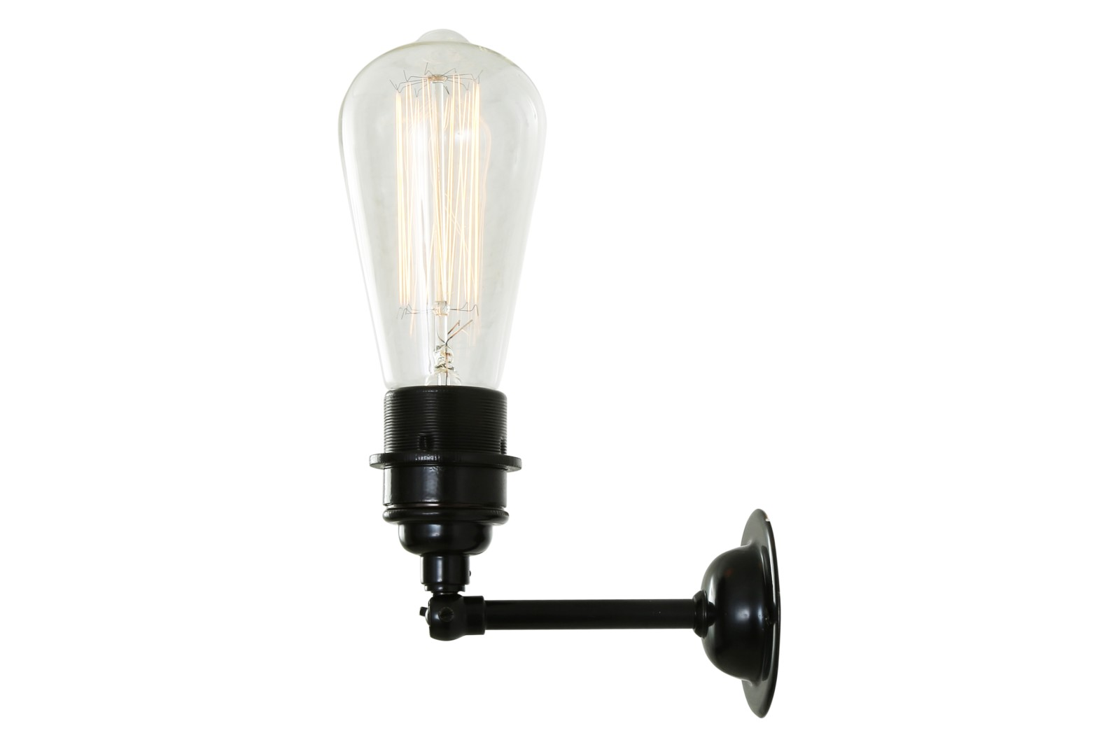 Lome Vintage Minimalist Wall Light Powder Coated Black