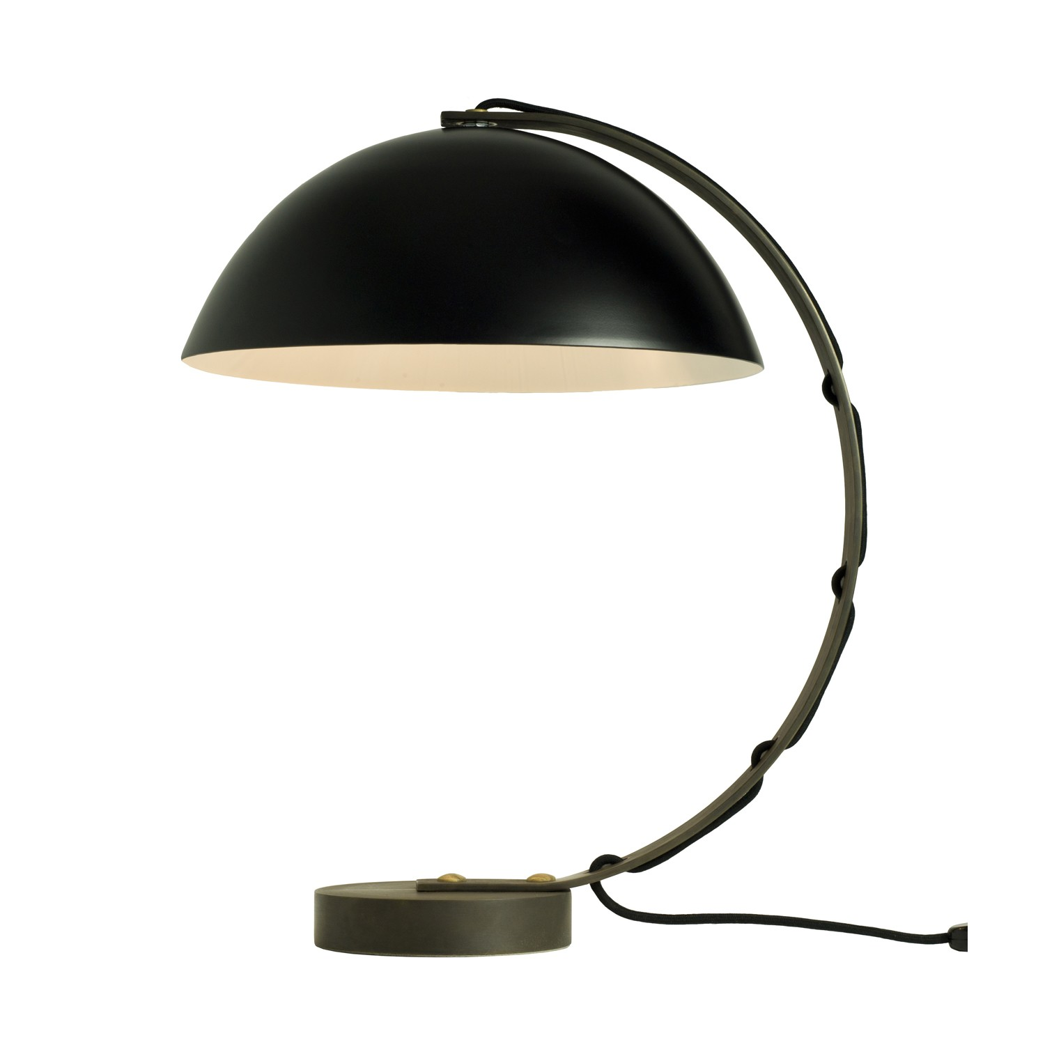 London Table Lamp Black with Brass Base