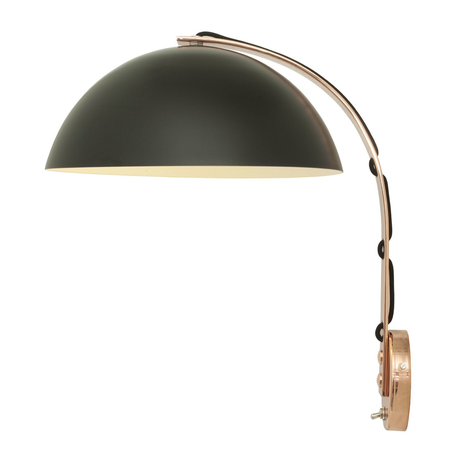 London Wall Light Black with Brass