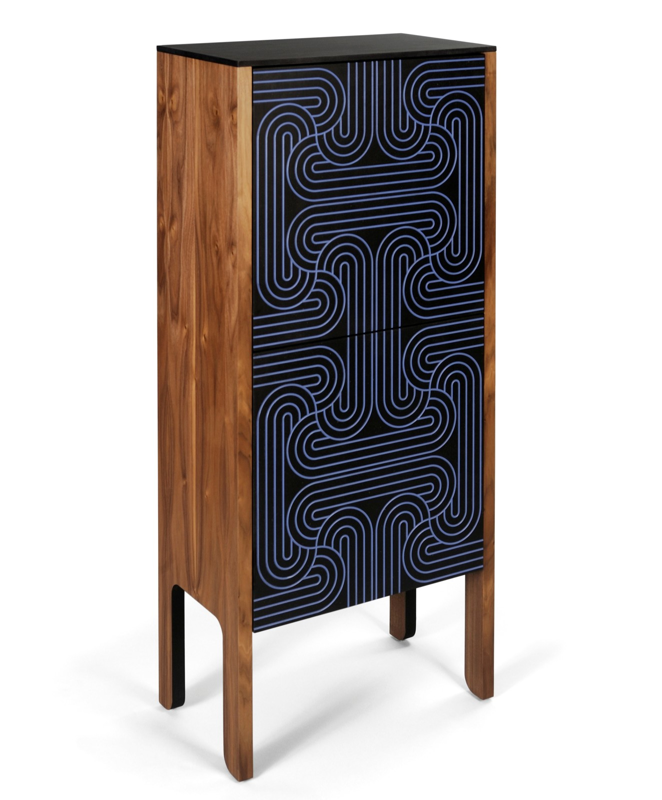 Loop Cabinet Dark Blue, High