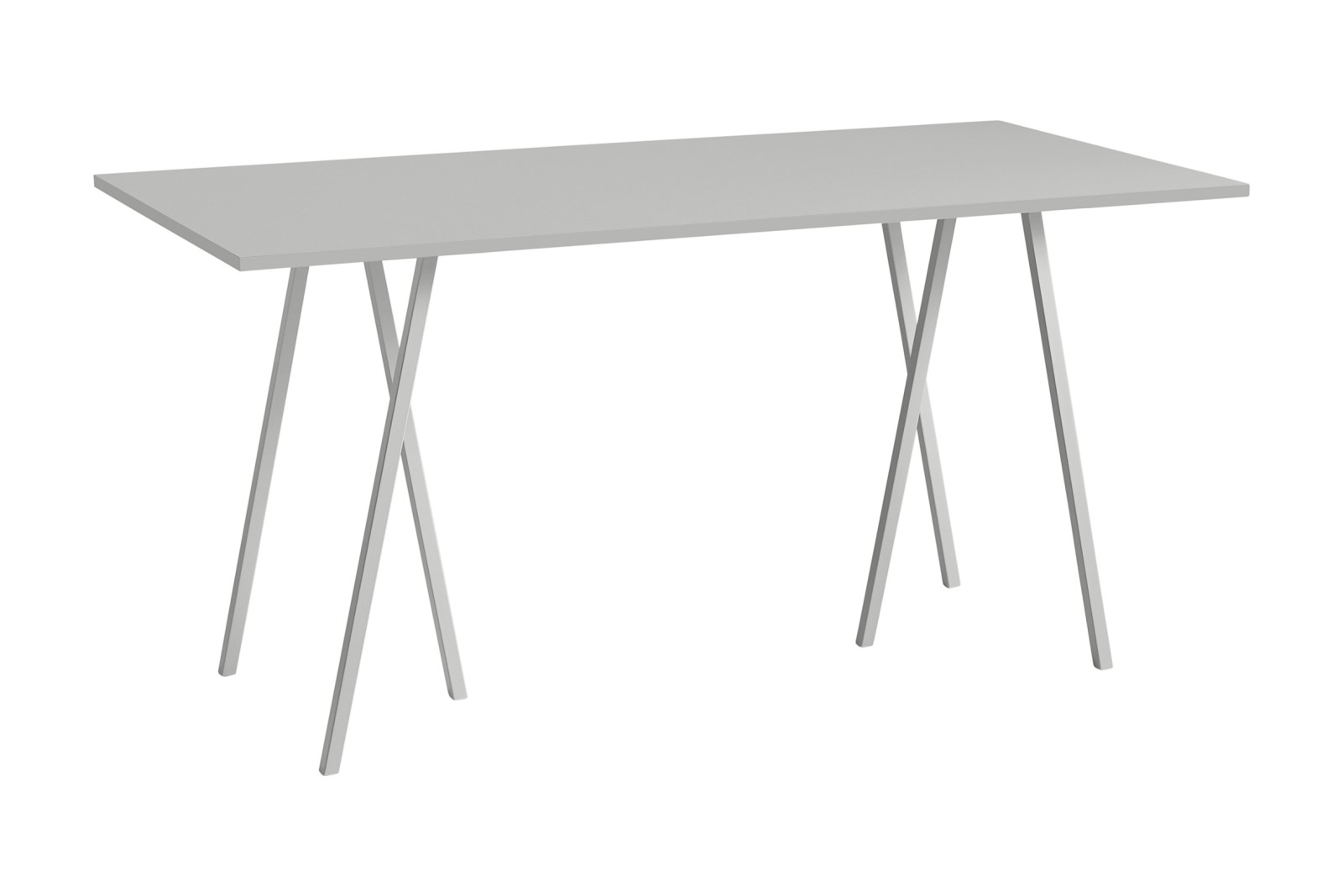 Loop Stand Rectangular Dining Table Grey, 200