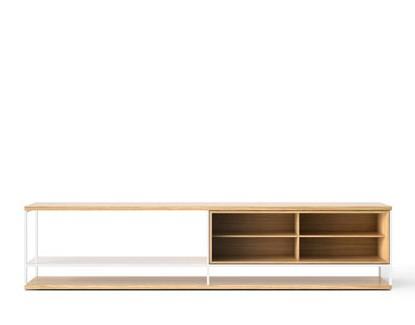 LOP006 Literatura Open Sideboard Super-matt Oak, White Textured Metal