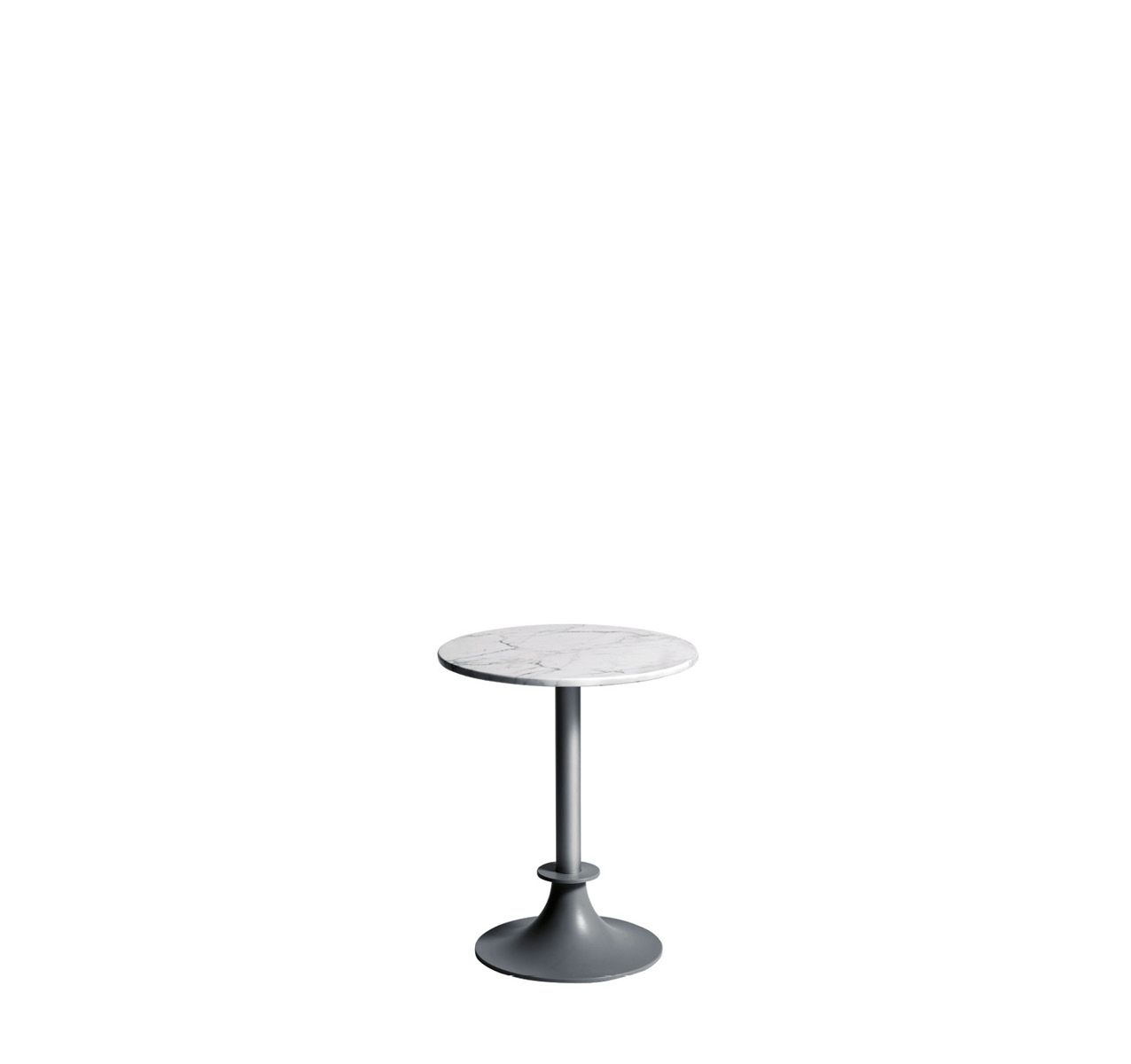 Lord Yi Round Table White Carrara Marble, No