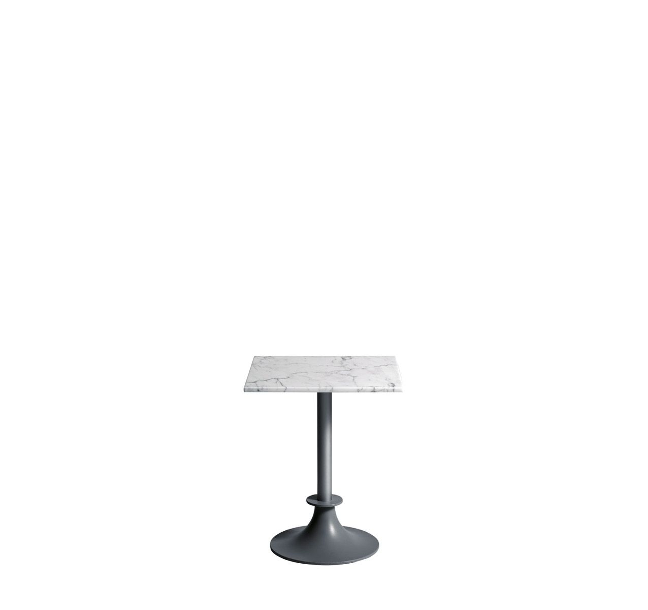 Lord Yi Square Table White Carrara Marble, No