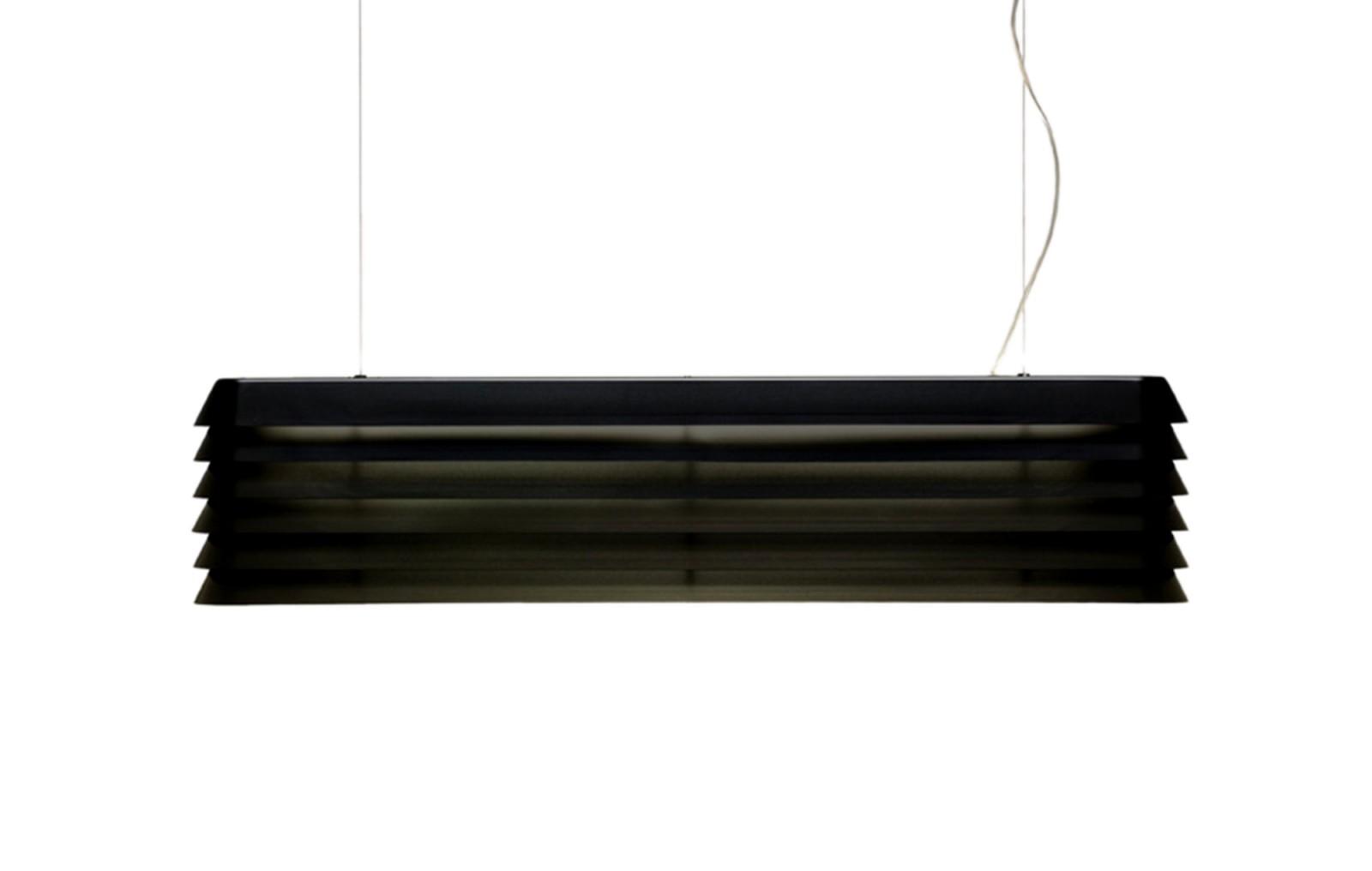 Louvre Pendant Light Anodised Black