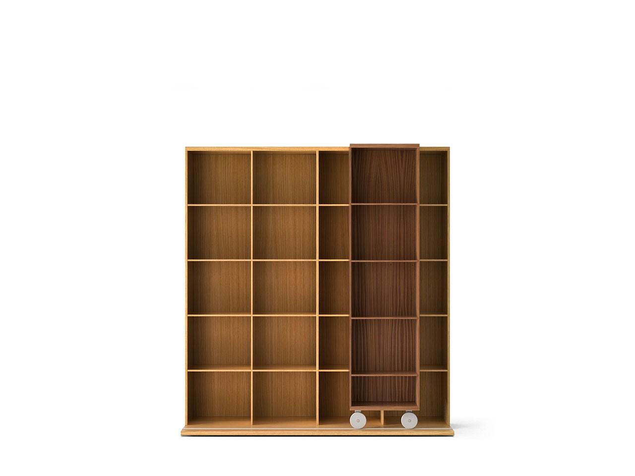 LTL420 Literatura Light Bookcase Super-matt Walnut, Super-matt Oak