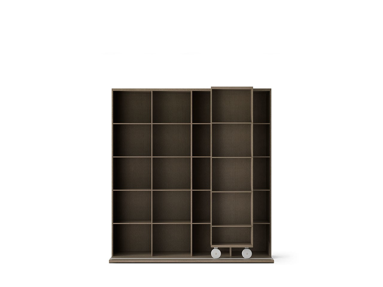LTL420 Literatura Light Bookcase Siena Grey Stained Oak, Siena Grey Stained Oak