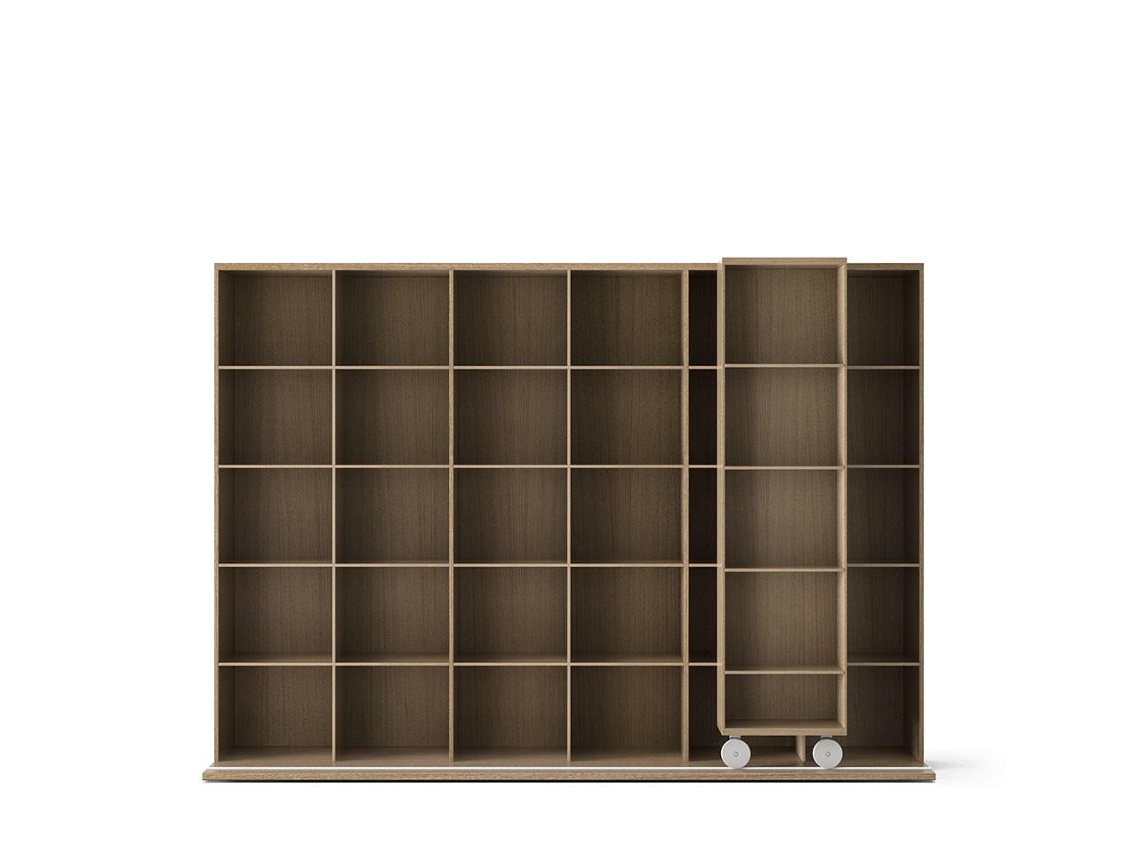 LTL430 Literatura Light Bookcase Whitened Oak, Whitened Oak