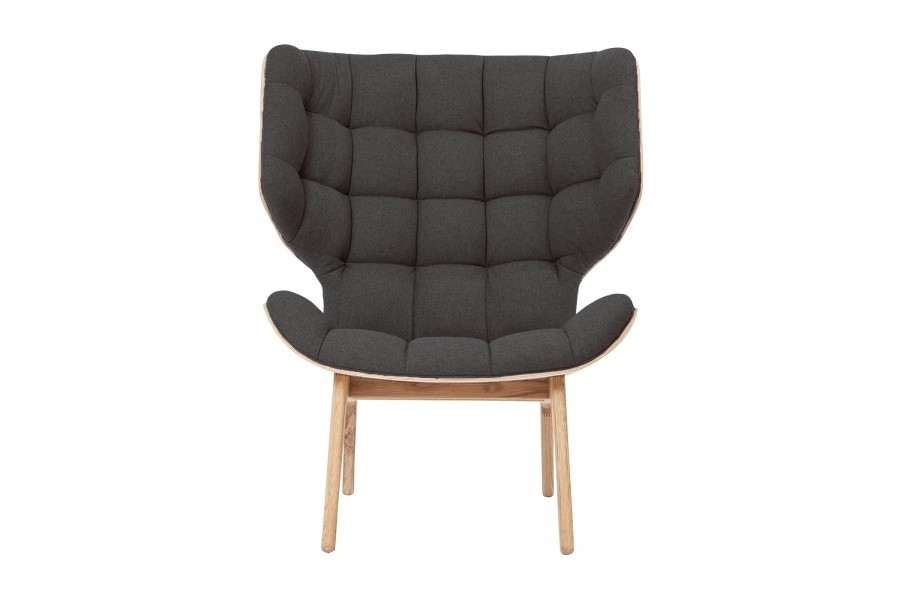 Mammoth Fluffy Chair Anthracite Wool