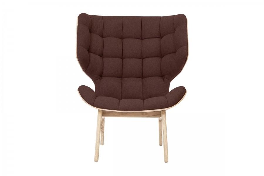 Mammoth Fluffy Chair Mocca Wool