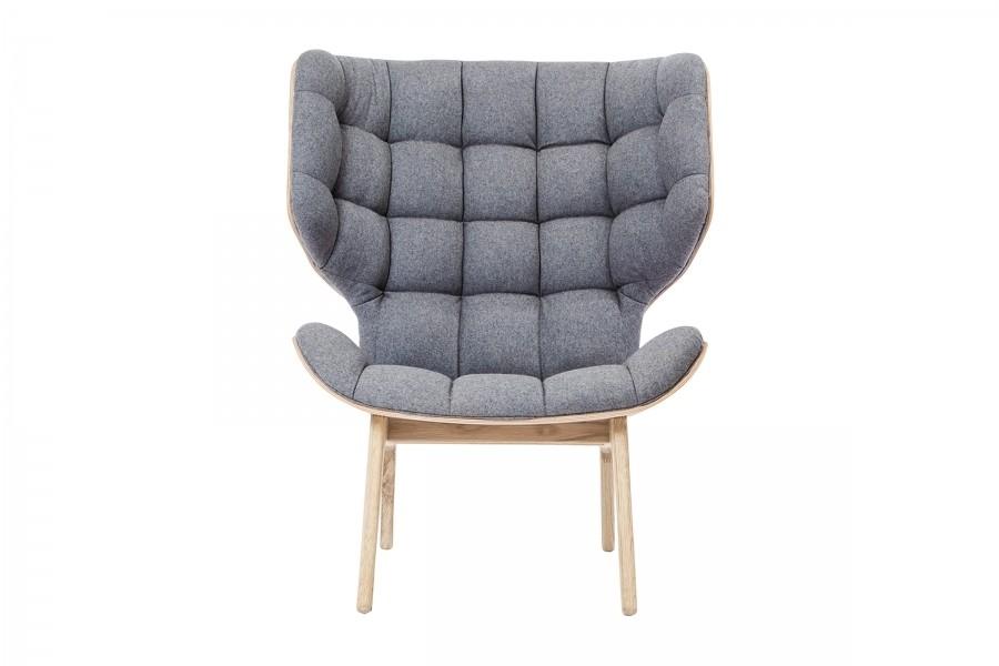Mammoth Fluffy Chair Stone Grey Wool