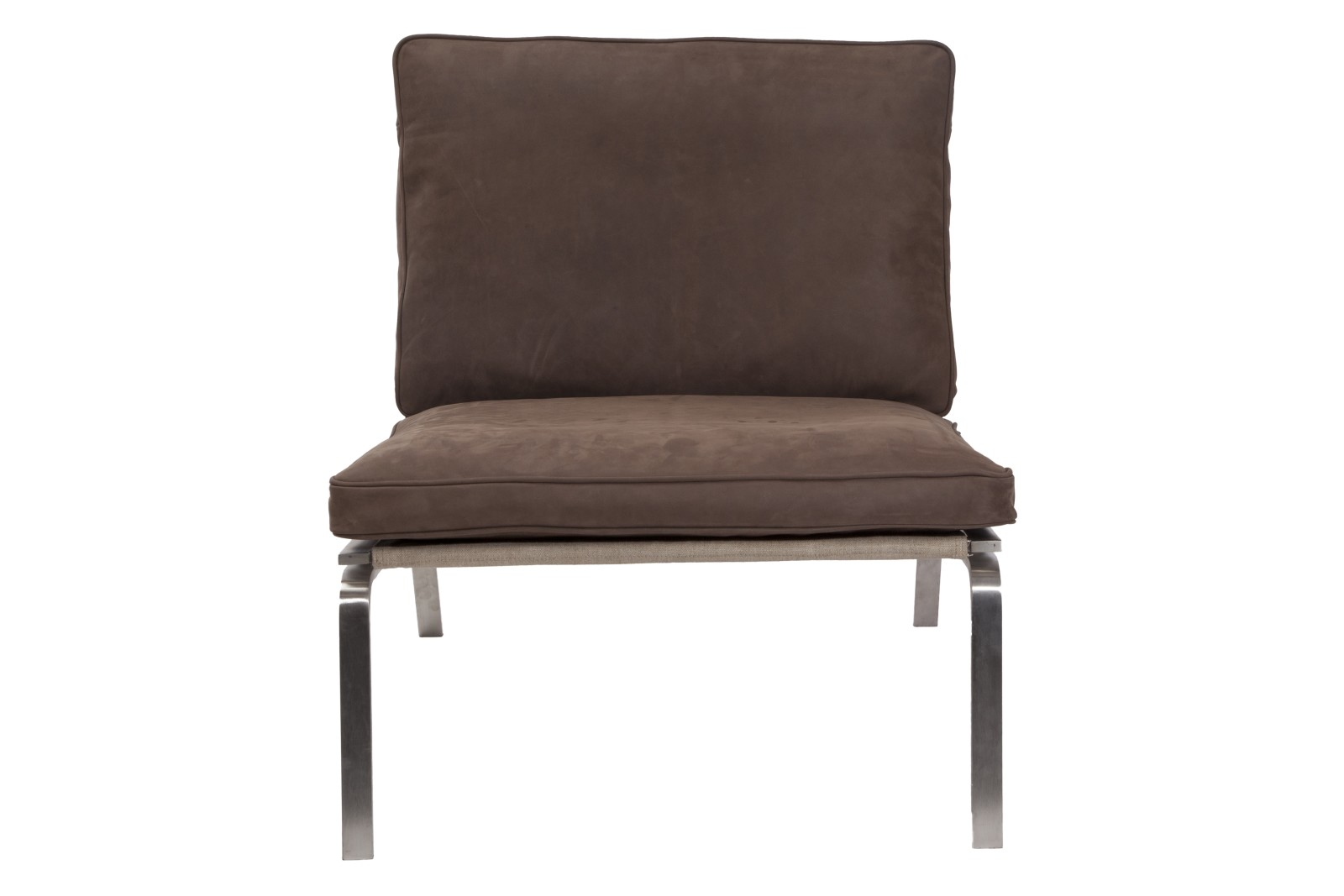 Man Lounge Chair Dark Brown Vintage Leather
