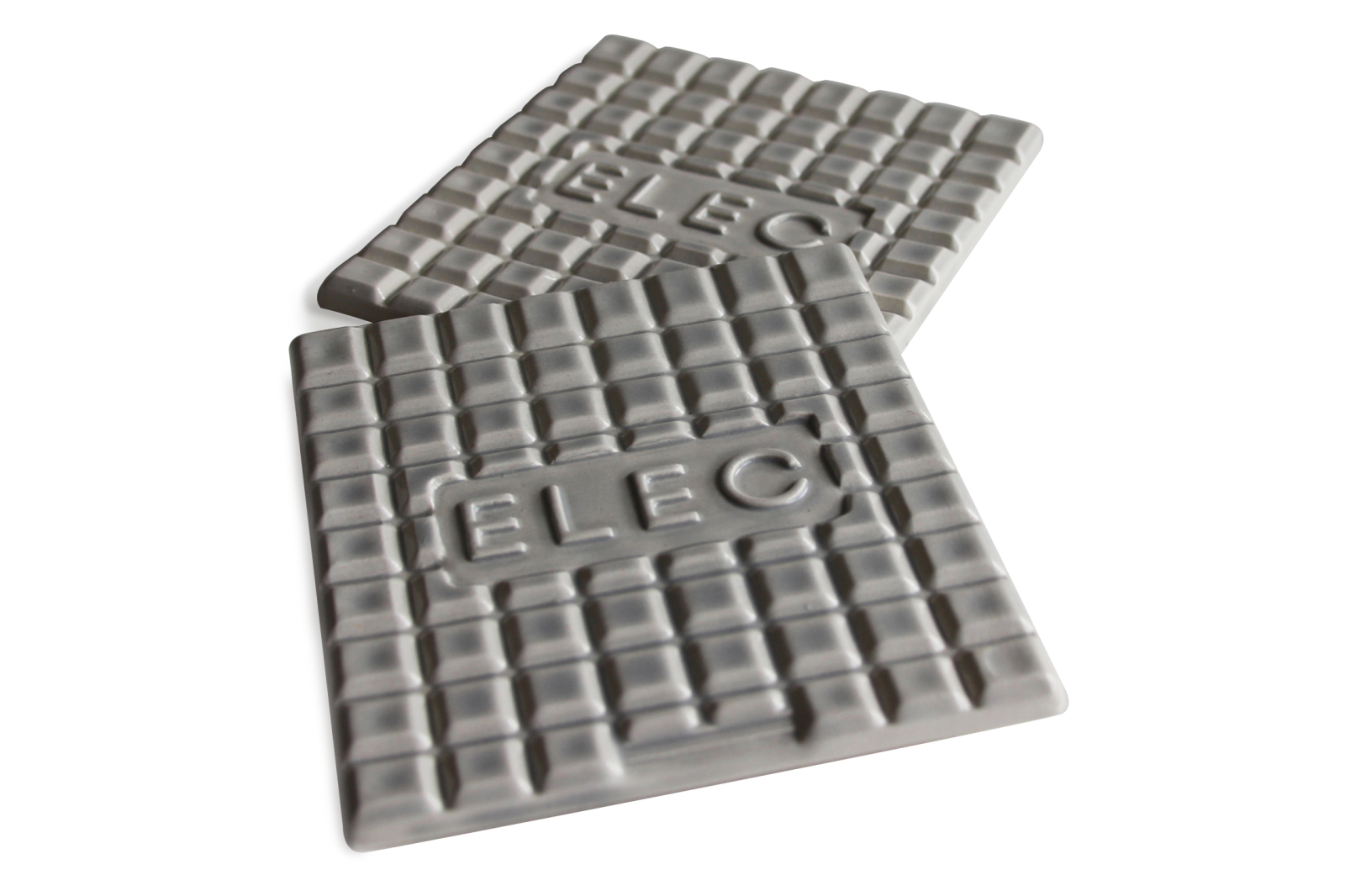 Manhole Coasters Set Light Grey