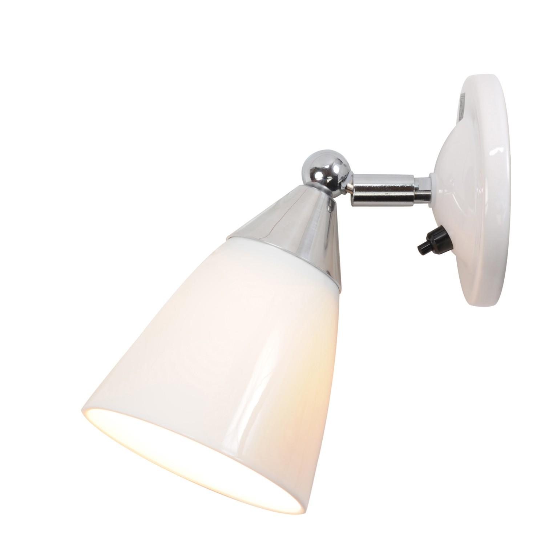 Mann Prismatic Wall Light White, Switch