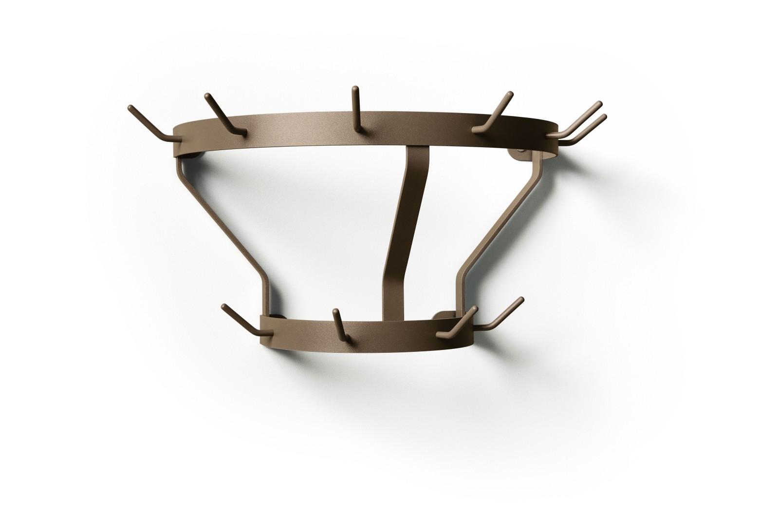 Marcel Coat Rack Pale Brown - RAL 8025