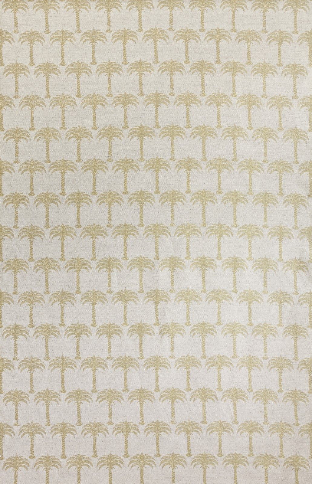 Marrakech Palm Fabric Gold on Natural