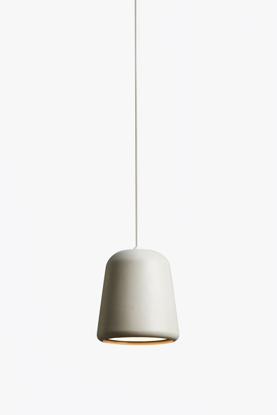 Material Pendant Light Light Grey Concrete