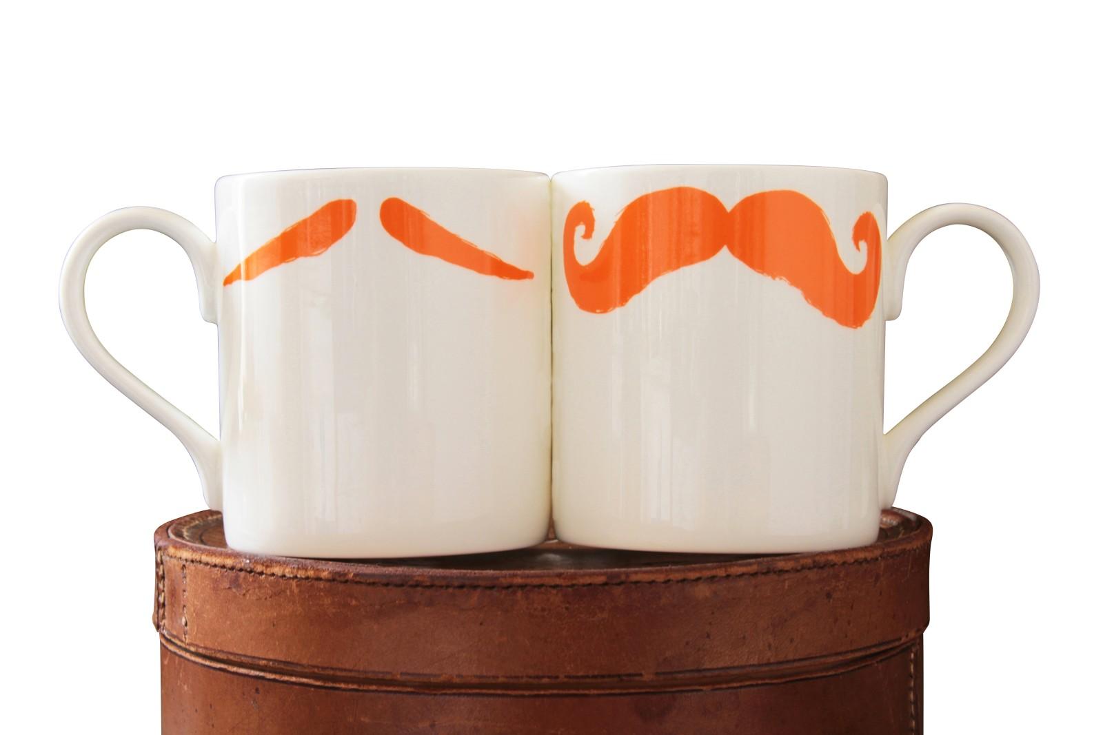 Maurice Poirot Moustache Mug Ginger