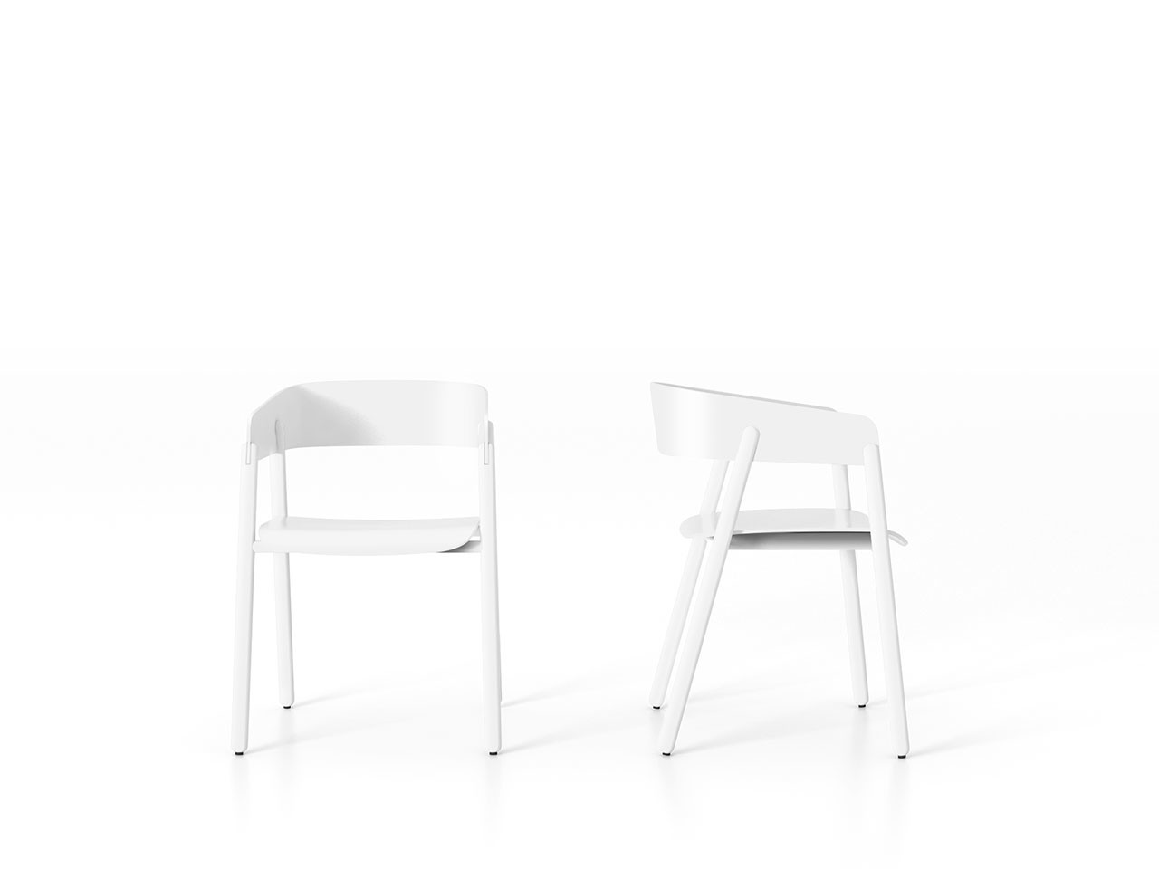Mava Armchair White Open Pore Lacquered On Oak
