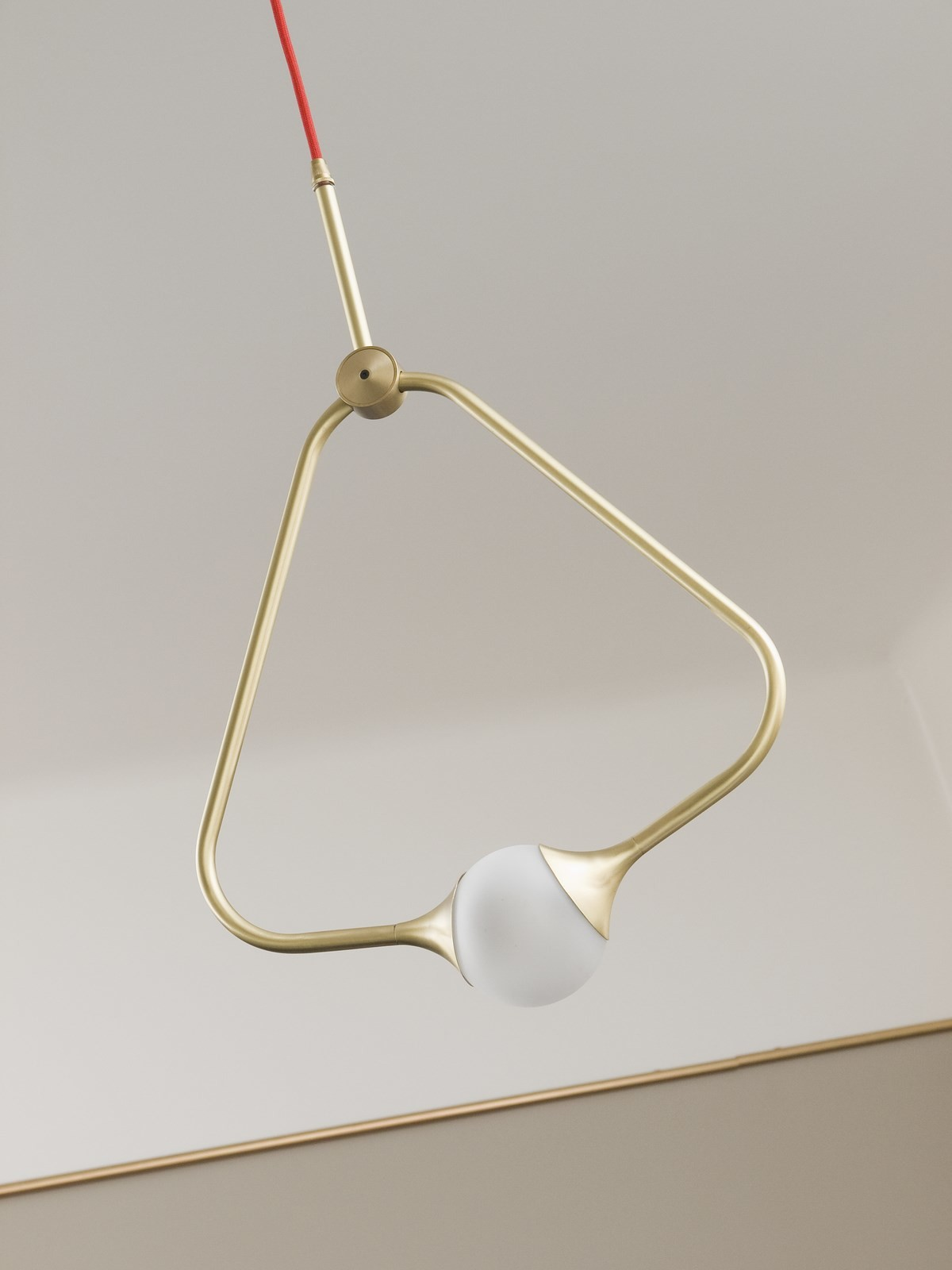 Medal Pendant Light Brass, Gold