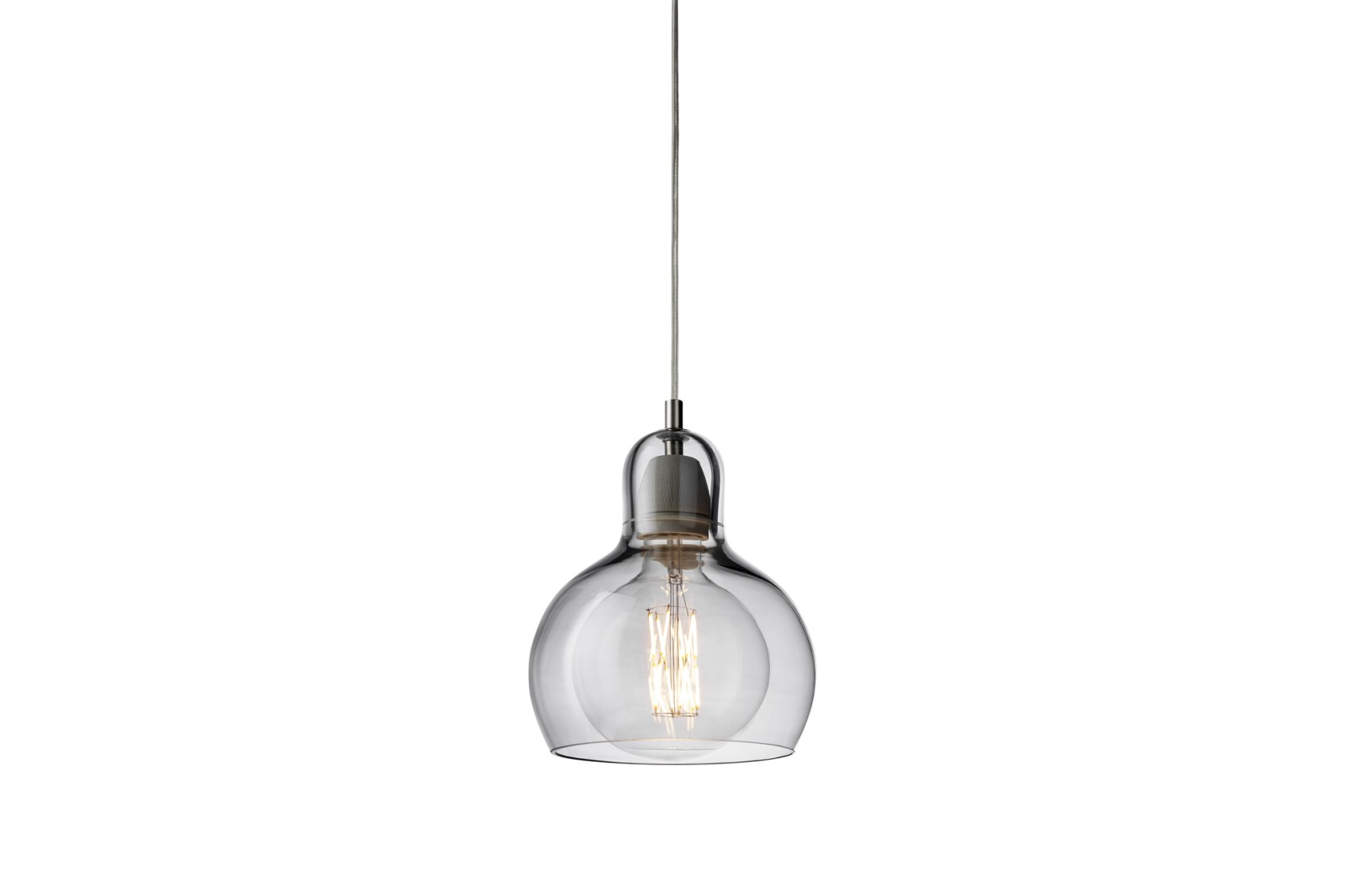 Mega Bulb SR2 Pendant Light - set of 2 Silver glass with clear cord