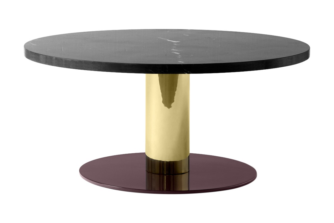 Mezcla JH20 Coffee Table Nero Marquina, Brass & Burgundy