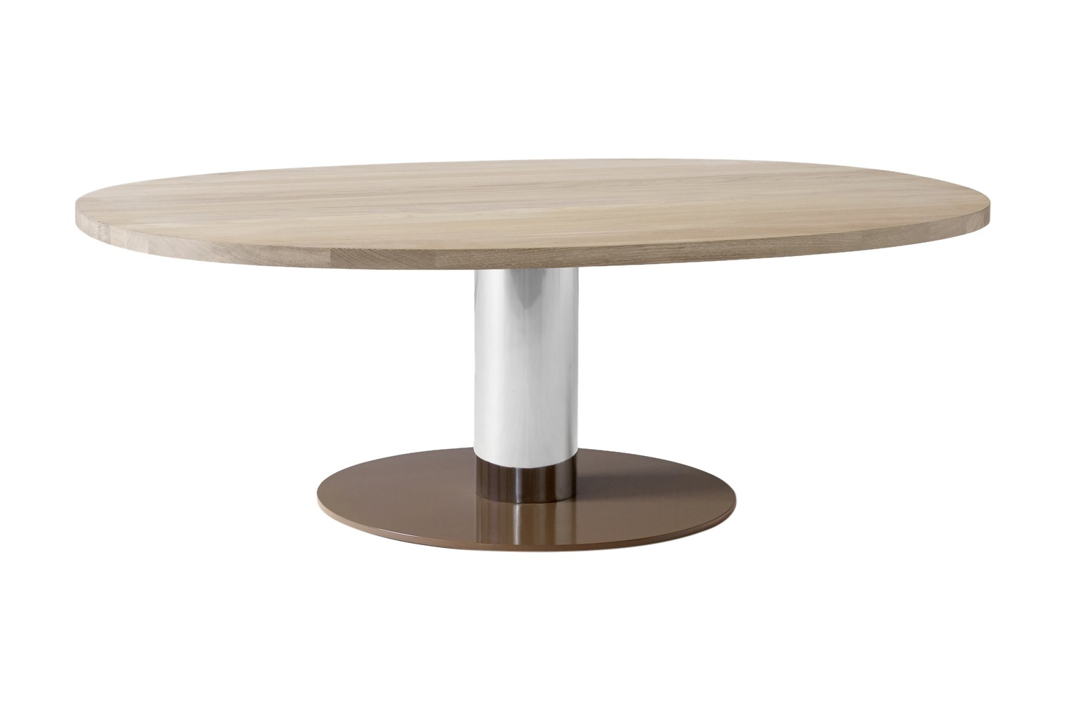 Mezcla JH21 Coffee Table Oak, Chrome & Clay