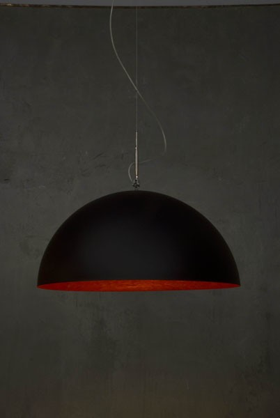 Mezza Luna Pendant Light Black and Red