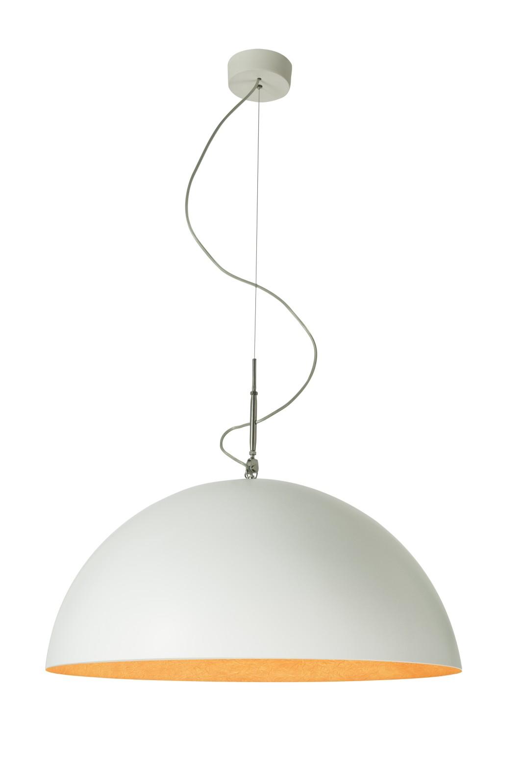 Mezza Luna Pendant Light White, Orange, 70cm