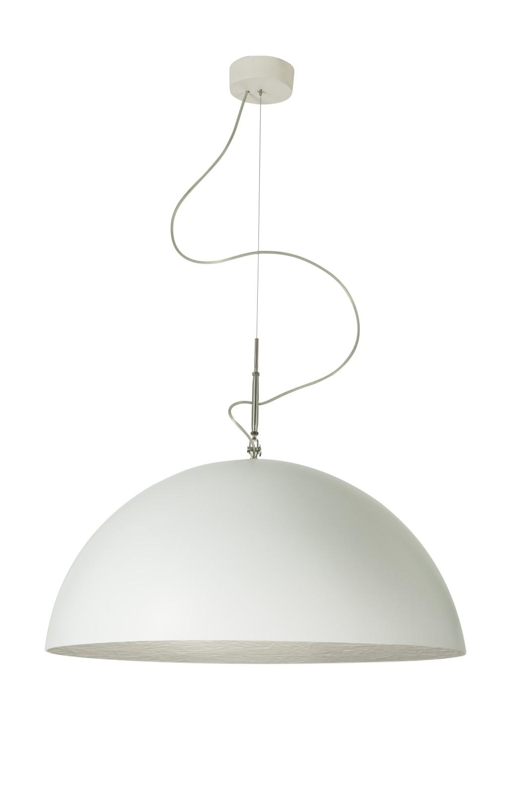 Mezza Luna Pendant Light White, Silver, 120cm