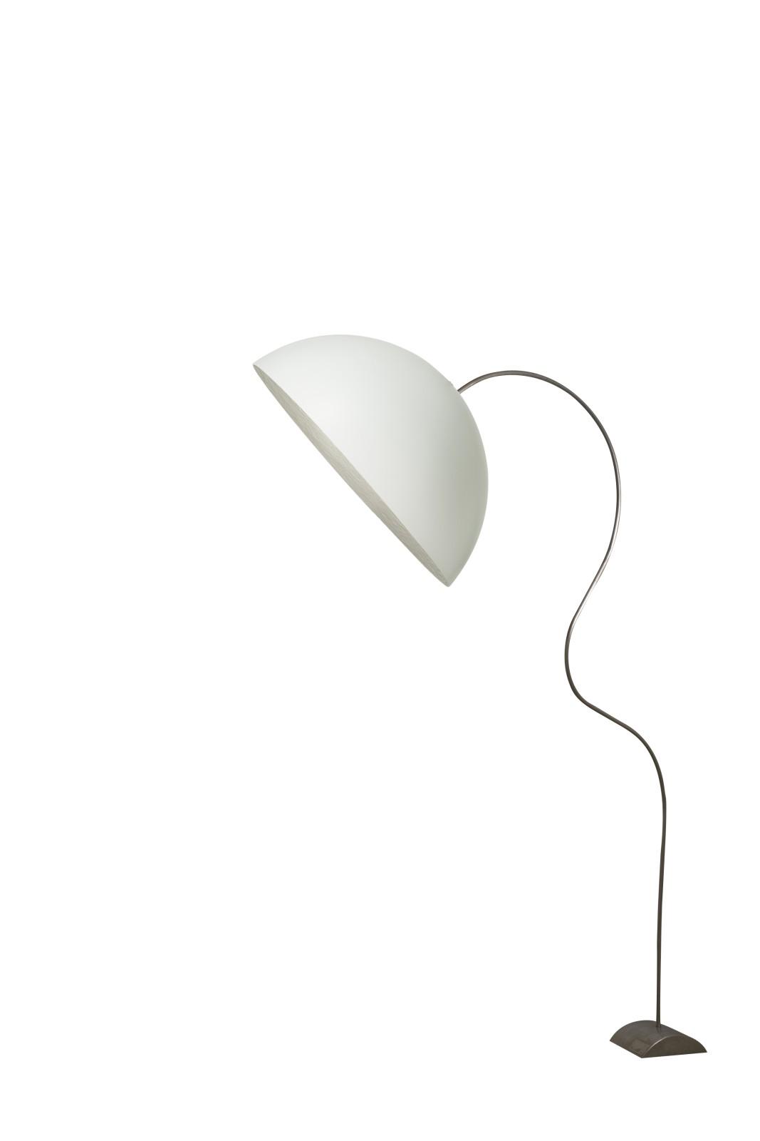 Mezza Luna Piantana Floor Lamp White, Silver