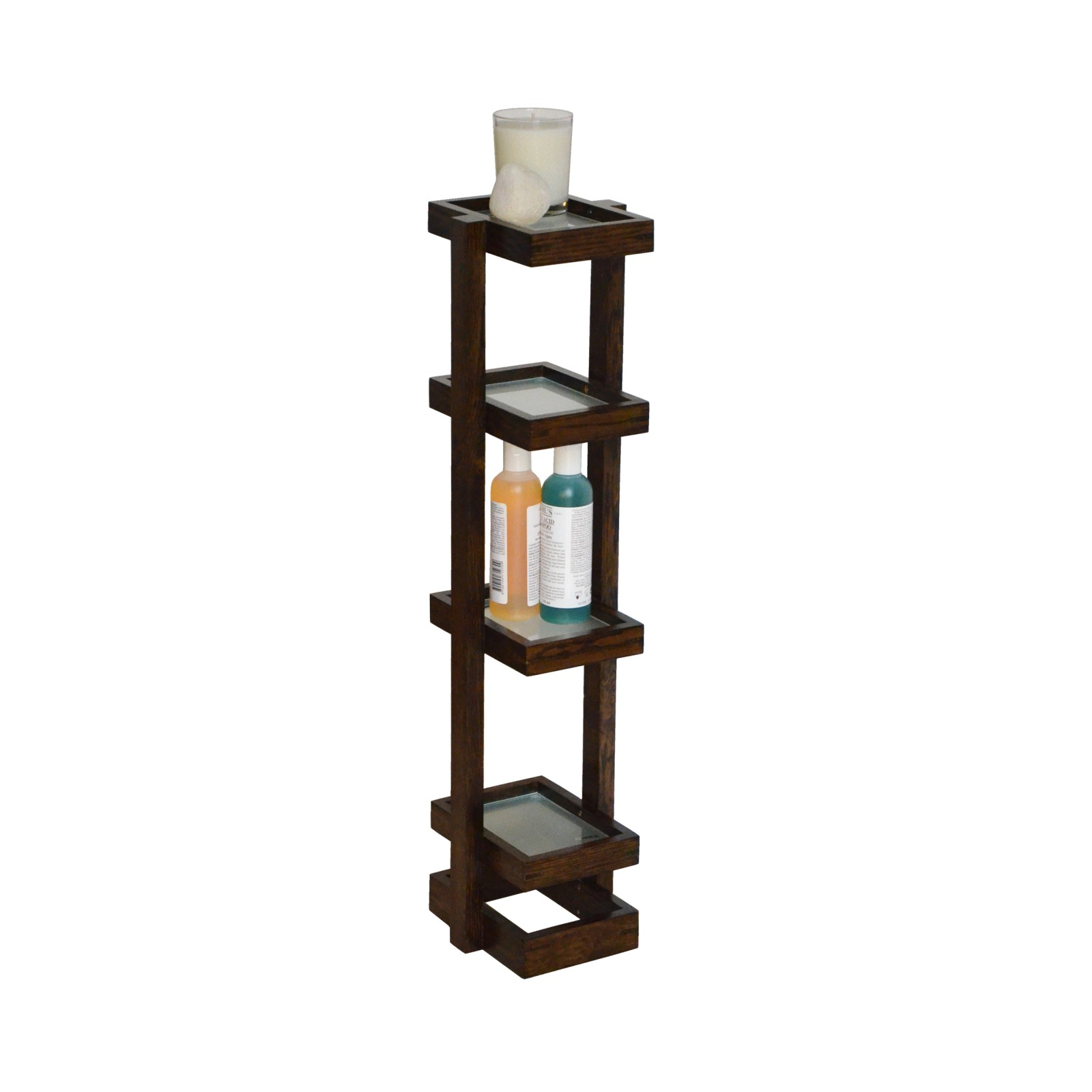 Mezza Washstand Dark Oak