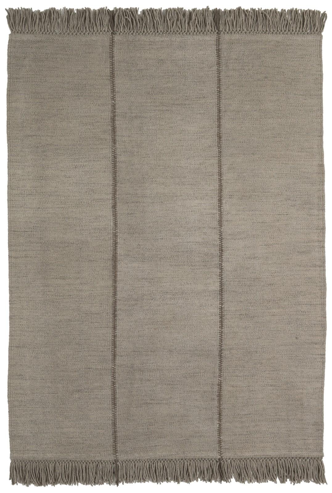Mia Rug Mia Rug - Base Colour - Stone, 170 x 240 cm, Mia Rug - Detail - Vertical fringing, Mia Rug -