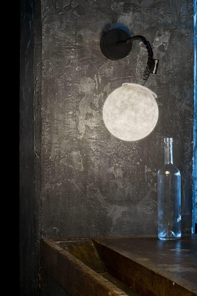 Micro Luna Applique Wall Light Black