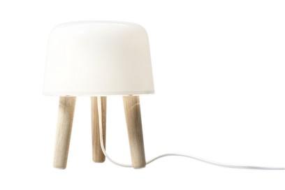 Milk NA1 Table Lamp - set of 2 Natural ash & white cord