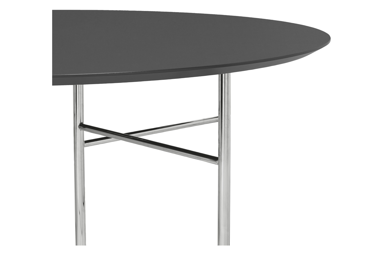Mingle Round Table Top Charcoal, MDF core and Forbo Linoleum