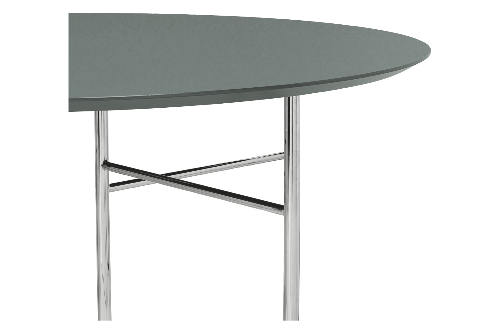 Mingle Round Table Top Green, MDF core and Forbo Linoleum