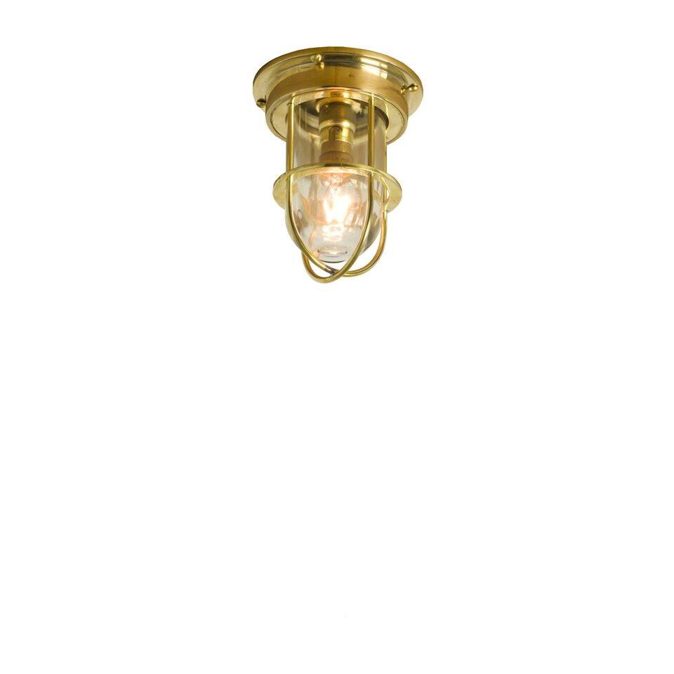 Miniature Ship's Companionway 7203 Polished Brass, Clear Glass