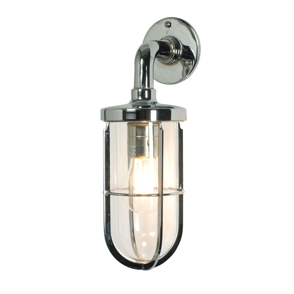 Miniature Ship's Well Glass Light 7207 Chrome, Clear glass