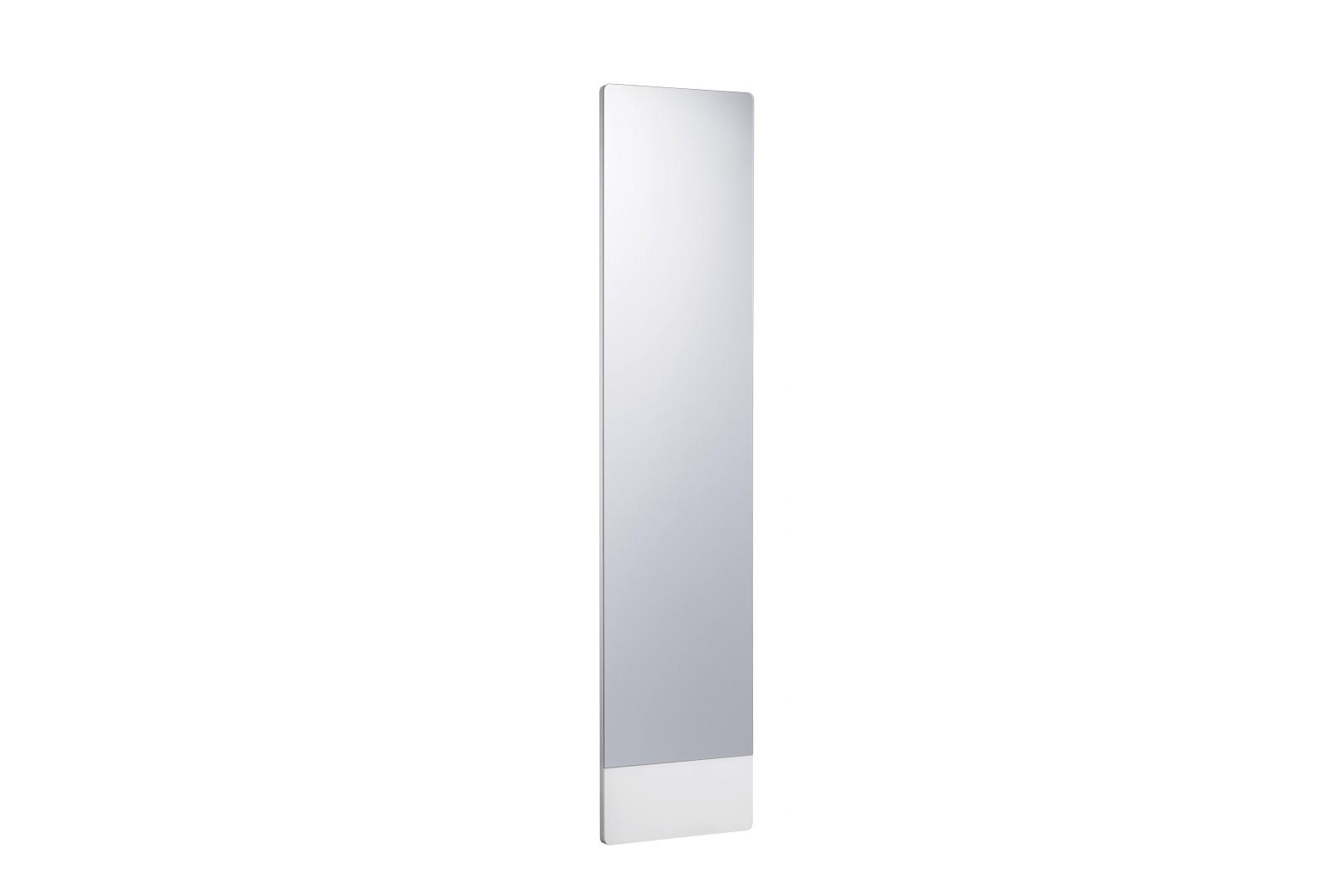 Mira Wall Mirror White Lacquer