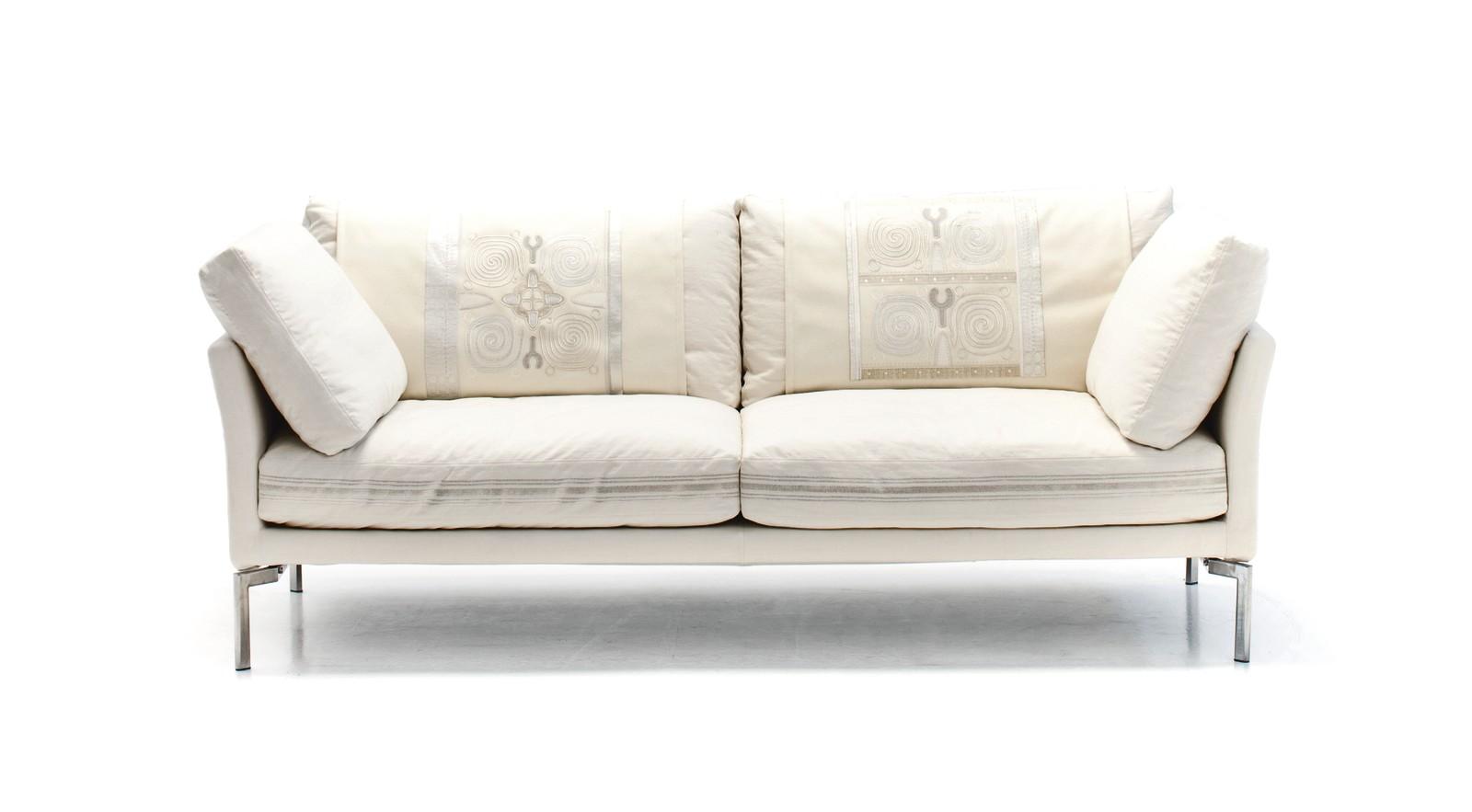 Miss Sarajevo 2 Seater Sofa A4500 - Art.48045 - 206 beige, Chrome Feet
