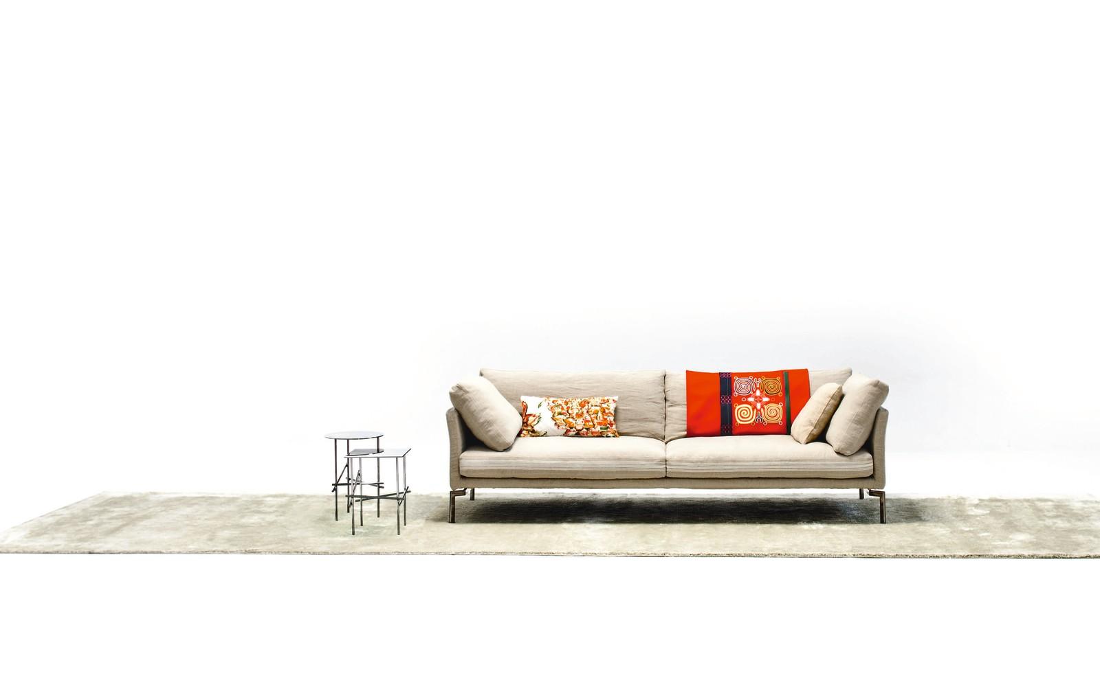 Miss Sarajevo Major 2 Seater Sofa A4500 - Art.48045 - 206 beige, Chrome Feet