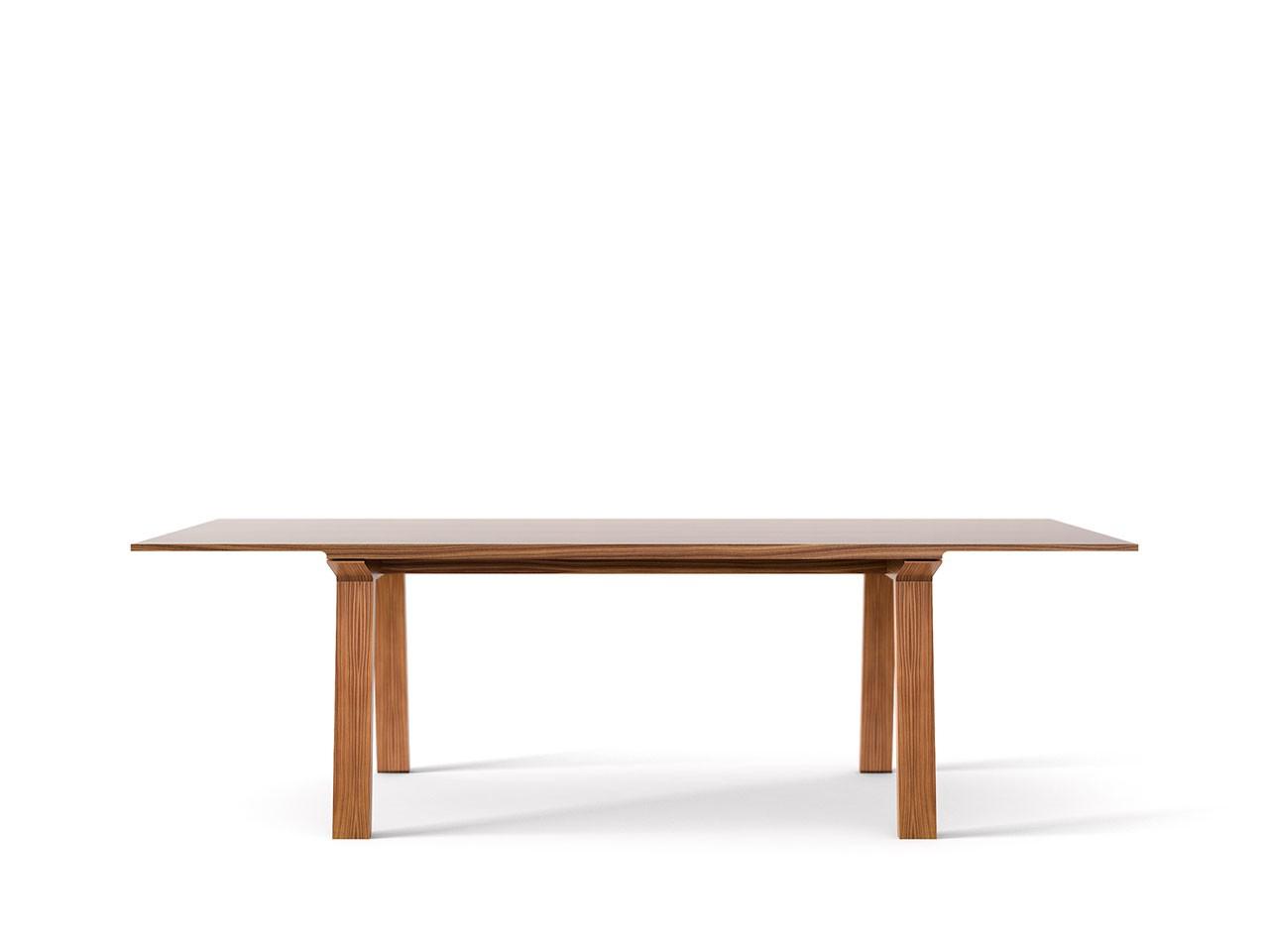 Mitis Dining Table, Rectangular Super-matt Walnut, Super-matt Walnut, 240cm