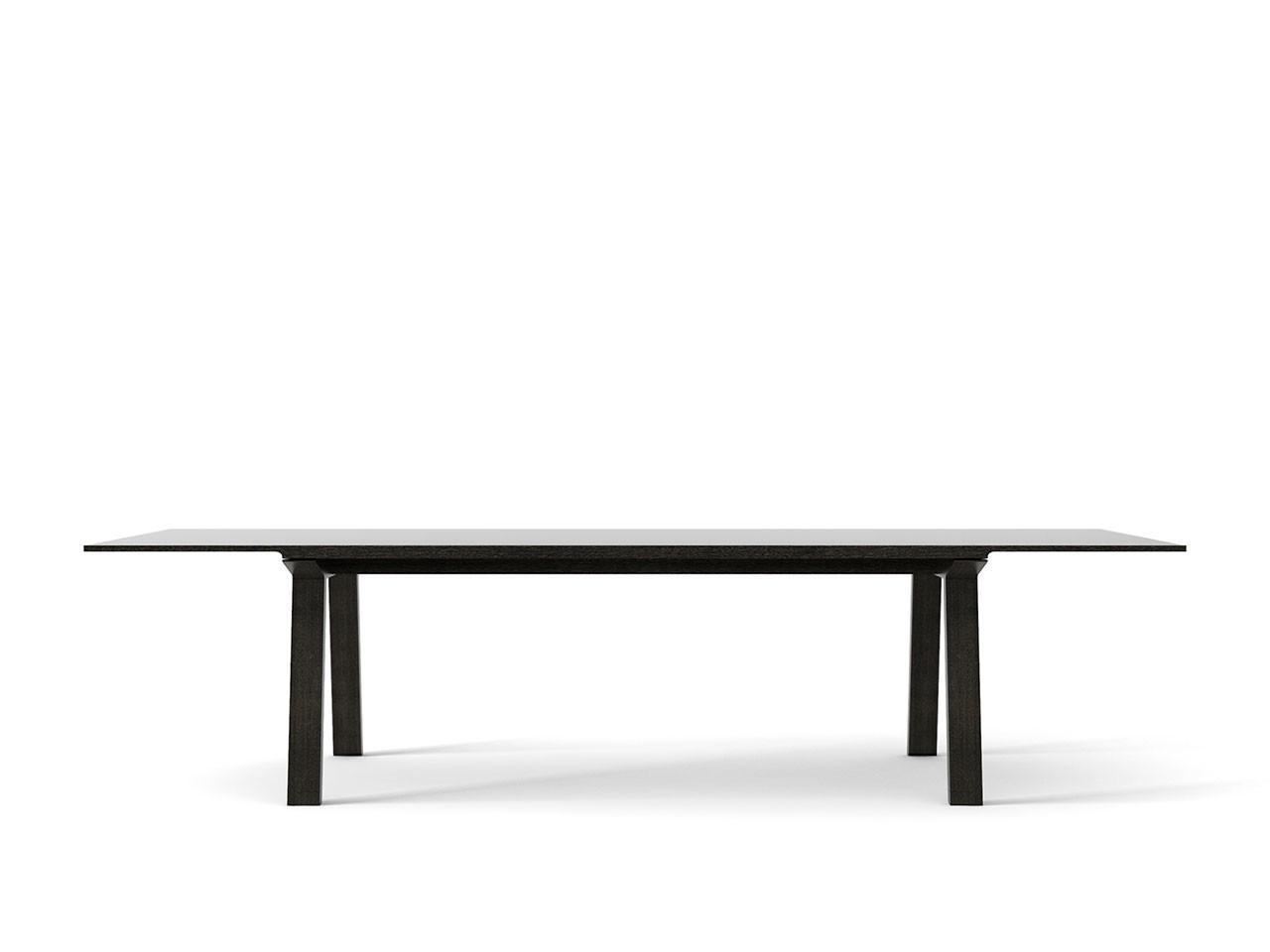 Mitis Dining Table, Rectangular Dark Grey Stained Oak, Dark Grey Stained Oak, 300cm