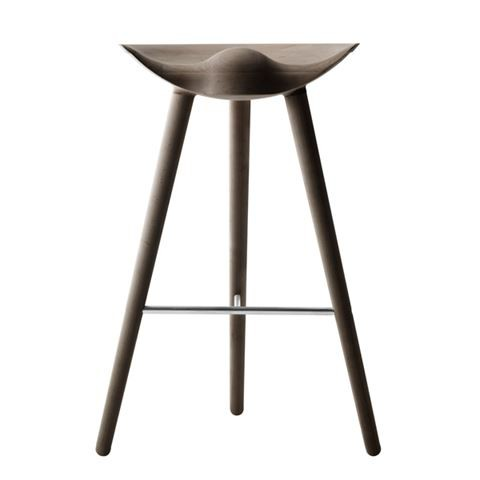 ML42 Barstool Brown Oiled Oak / Stainless Steel